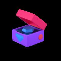 diamond box 3d icon small
