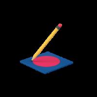 drawing circle 3d icon small