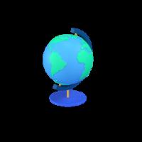 earth globe 3d icon small