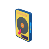 external hard drive 3d icon small