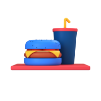 fast food 3d icon small front