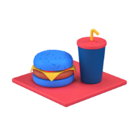 fast food 3d icon small
