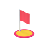flag 3d icon small