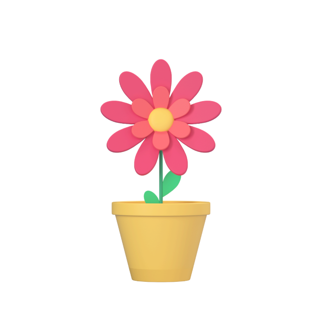 flowerpot 3d icon big perspective 1