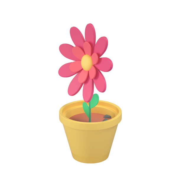 flowerpot 3d icon big perspective 2