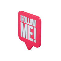 follow me notice 3d icon small