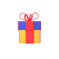 gift 3d icon 2 small front