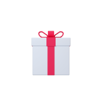 gift 3d icon small front