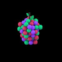 grapes 3d icon small