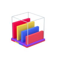 graph 3d icon mall