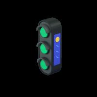 green traffic light 3d icon small