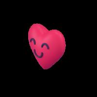 happy heart 3d icon small