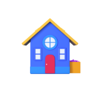 house 3d icon small front