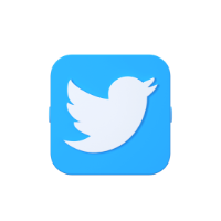 lago twitter 3d icon small front