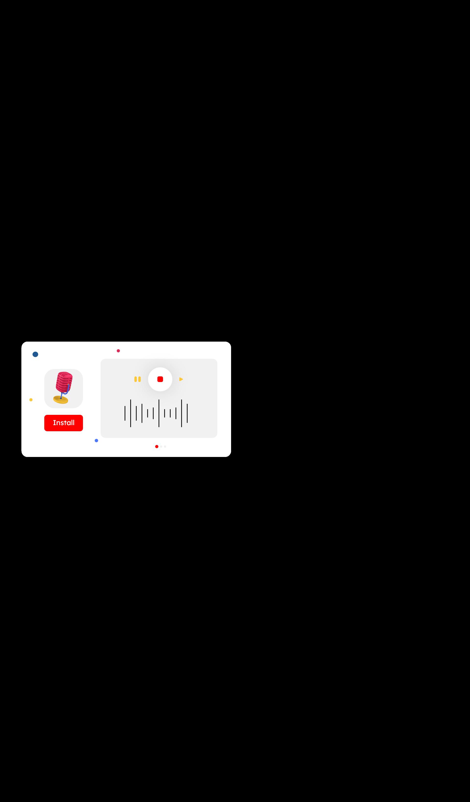 landing application 3d icon set 5