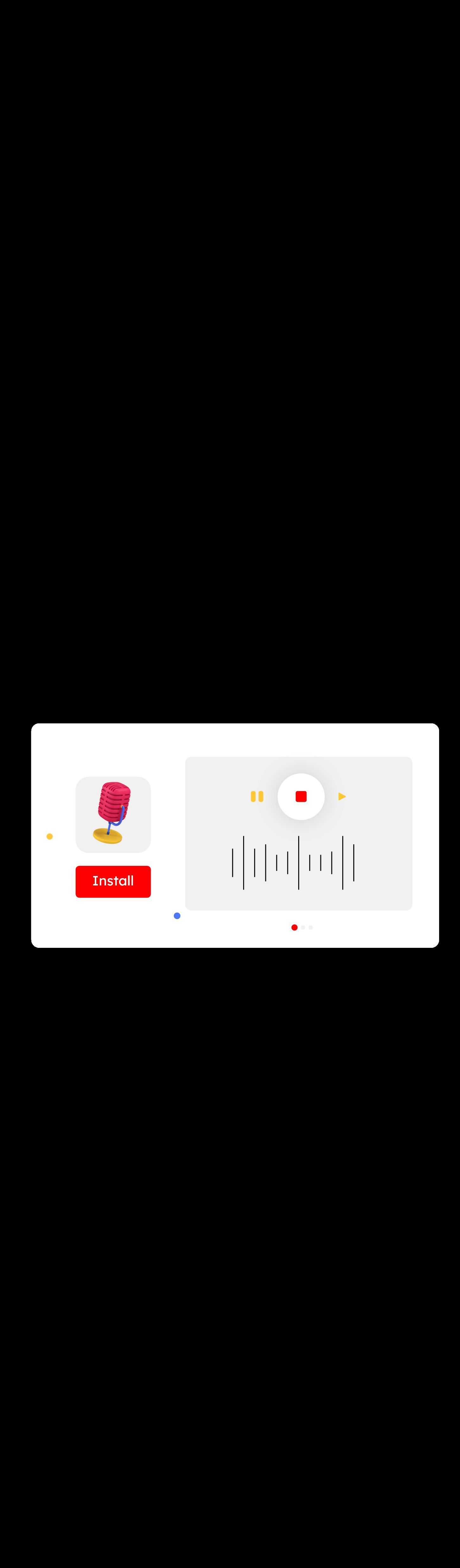 landing application mobile 3d icon set 4