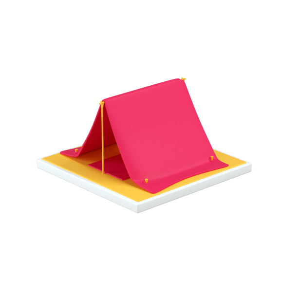 large tent 3d icon big