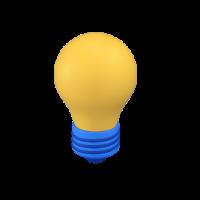 light bulb 3d icon small