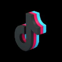 logo tiktok 3d icon small