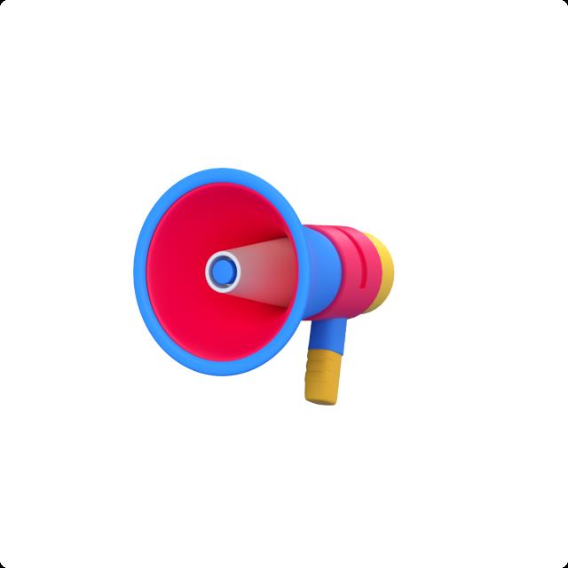 megaphone 3d icon big perspective 1