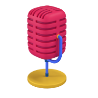 microphone 3d icon small
