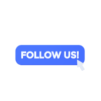 notice of follow us 3d icon small front
