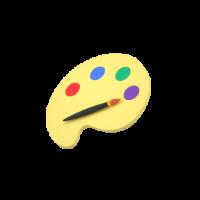 paint palette 3d icon small