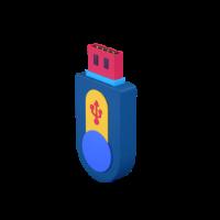 pen drive 3d icon small