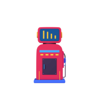 petrol pump 3d icon small front