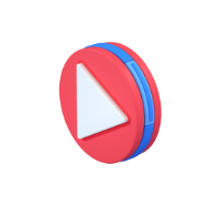 play button 3d icon small