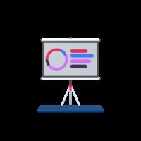 presentation 3d icon small front