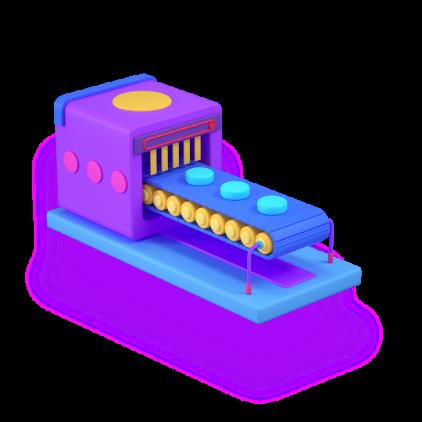 processing machine 3d icon big