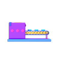 processing machine 3d icon small front