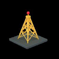 radio antenna 3d icon small