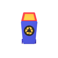 recycle bin 3d icon small front