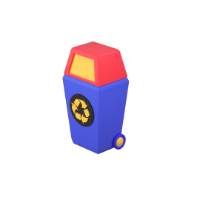 recycle bin 3d icon small