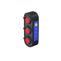 red traffic light 3d icon small