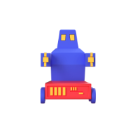 robot 3d icon small front