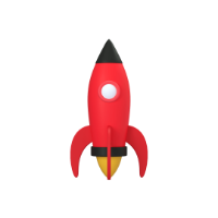 rocket 3d icon small front