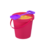 sand bucket 3d icon small