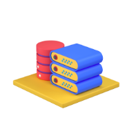 server and database 3d icon small