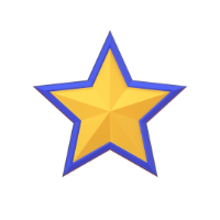 star 3d icon small front