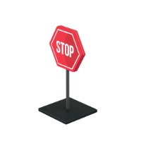 stop sign 3d icon small