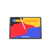 tablet 3d icon small front