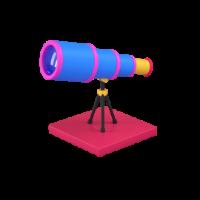 telescope 3d icon small