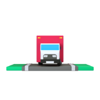 truck 3d icon small front