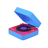 turntable 3d icon small