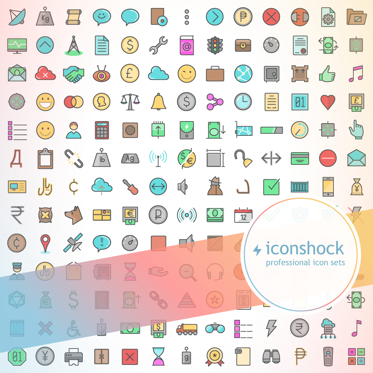 Color Line Icons - Iconshock