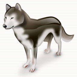 Examples of smaller sizes (designed pixel by pixel): www.iconshock.com/icons/super-vista/animals/wolf-icon.html