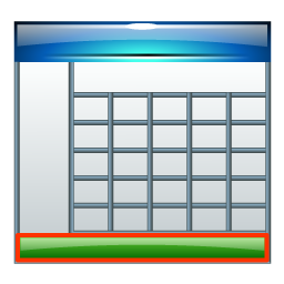 Table footer icon for Html table footer
